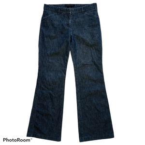 Express Design Editor Wide Leg Dark Wash Jeans